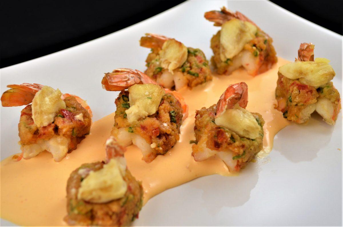 Crab Stuffed Shrimp With Roasted Tomato Cream Sauce Newport International